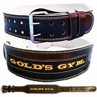 "Golds Gym Weight Lifting Leather Belt 4"" Lumbar Back Support Power Training"