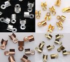 500pcs Silver/Golden/Copper/Broze Plated End Beads Jewellery Findings 6/9mm Pick