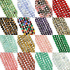"16"" Strand GEMSTONE Crystal ROUND BEADS 4mm (95+ Beads)"