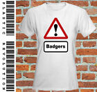 BADGERS - LADIES FITTED T-SHIRT - ALL SIZES + COLS (Badger Animal Funny wildlife