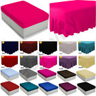 Plain Dyed Fitted,Flat ,valance sheet, Bed Sheet all sizes & colours