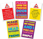 Fun Warning Sign Fridge Magnet Funny Fun Slogan Magnetic Great Gift Idea New
