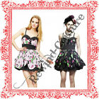 HELL BUNNY ZOMBIE PETAL MINI HORROR PARTY PROM EMO BLACK PINK DRESS