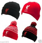 Liverpool FC Official Hat Beanie Bronx Black Red Adult & Kids Gift