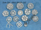 U PICK~ Crystal Rhinestone Pearls Shank Button Accessories Wedding Crafts #4961