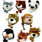 One Size Fits Most Plush Winter Animal Hats- Your Choice NEW