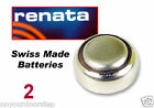 2 X Swiss Made Renata Watch Battery Button Cell Batteries Many Sizes 2 Packs