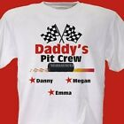 Personalized Racing Pit Crew T-Shirt For Dad or Grandpa