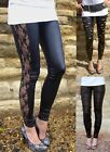 New WET LOOK  FASHION STYLE  LEGGINGS BLACK SIZES   20 22 24