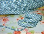 Blue Gingham PIPING CORD Bias Binding Insertion Welt Lip Tape fabric Flange Trim