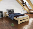 "New Single 3FT Bed ""Niva"" Pine,Walnut,Oak,Alder Solid Wooden with slats"