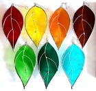 Garden Leaves stained glass suncatcher window decoration car hanging flower leaf