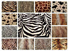 "Animal Print Polyester Velboa Fabric Faux Fur Pony Skin 58"" (145cm) wide Velour"