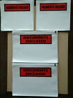 Document Enclosed Wallets Pouches.A7,A6,A5,A4,DL.Printed & plain Self adhesive