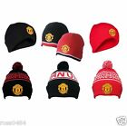 Manchester United Official Hat Selection Beanie Bronx Black Red Reversible Gift