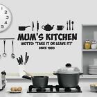 Kitchen Themed Wall Art - Mum/Family - Humourous Kitchen Design Silhouette