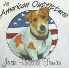 NEW! Patriotic ALL AMERICAN OUTFITTER JACK RUSSELL TERRIER  Dog T-Shirt - M - XL