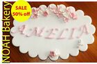 Personalized Sugarpaste Edible Plaque Birthday Cake Cupcake Toppers Any Styles