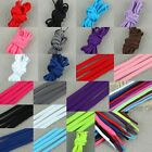 Oval Shoe Laces Shoelaces Black/Pink/Red/White/Purple/Brown/Green/Blue/Purple