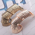 2pcs Punk Rock Full Finger Spotted Scroll Armor Joint Knuckle Ring