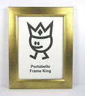 New Distressed Gold or Silver Picture Photo Frame + Glass  Portobello Frame King