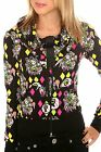 Too Fast Octo-gal Casbah Cowl Neck Hoodie Punk Rocker Gothic NEW Girls Sz: LARGE
