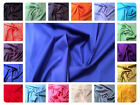 "100% Plain Cotton Poplin Dress Fabric Material - Solid Colours - 44"" (112cm) M-Z"