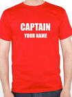 CAPTAIN Personalised With Your Name - Nautical / Sailing Themed Mens T-Shirt