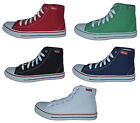 Mens High Lace Canvas Boots,Red, Green, Navy, Black, Size 6 to 11, Free Postage!