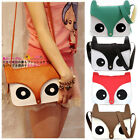 Fashion Contrast Color LADIES Owl Messenger PU Material Hobo Shoulder Bag Tote