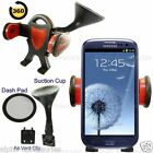 360° Car Windcsreen Suction Dash, Air vent Mount Holder For Mobiles 38mm To 85mm