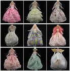 Fashion Barbie Clothes Princess Dress Wedding Gown Outfit for Barbie Doll Gifts
