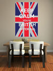 Keep Calm You're British After All - Union Jack Wall Art Design - Wall Transfer