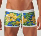 GERONIMO Amazing Swimwear Mens Flowered Boxer Trunks,Swimming suit,Flowers