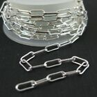 STERLING SILVER BULK CHAIN-Rectangle Link, 2.5X7mm (sold by foot)