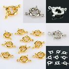 Wholesale Silvery/Golden Bolt Clasps Connetors Links Hooks Jewelry Carft Finding