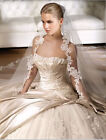 New White or ivory Wedding Dress/Bridal Gown Custom Size 4-6-8-10-12-14-16-18+++
