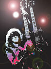 JIMMY PAGE LED ZEPPELIN QUALITY PRINT ON CANVAS - Framed Wall Art - Choose Size