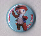 BARNABY THE BEAR Badge Button Pin - Retro Classic !  25mm and 56mm size!