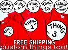 THING 1 THING 2 T SHIRT 3 4 5 6 t-shirts adult youth thing shirts thing one two