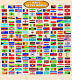 HUGE LAMINATED WORLD COUNTRY FLAGS LEARNING EDUCATIONAL KIDS POSTER WALL CHART günstig