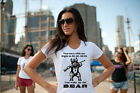 Right to BEAR arms 2nd AMENDMENT angry grizzly New white shirt womens ladies