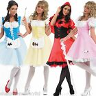 Ladies Longer Length Bo Peep Red Riding Hood Dorothy Fancy Dress Costume 8-26
