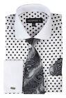 New Men's George Fashion Polka Dot Design French Cuff in White Style-613