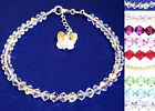Handmade Sparkly Crystal Butterfly Charm Anklet made with SWAROVSKI ELEMENTS
