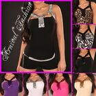NEW SEXY PADDED WOMENS PARTY TOPS 6 8 10 LADIES CLUBBING SHIRTS evening wear S M