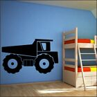 DUMP TRUCK boys bedroom car digger fort lift truck wall art stickers transfers
