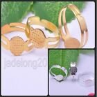 80pcs Silver/Gold Plated Adjustable Round RING Blank Pad Base Jewelry Findings