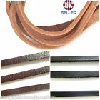 Genuine Flat Leather Cord 5x2.5mm Jewellery Making