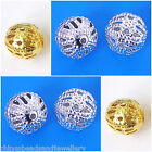 Silver Gold plated Filigree beads 6mm 8mm choose your colour